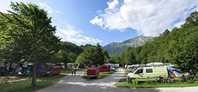 Piazzole e aree per campeggiare in tenda